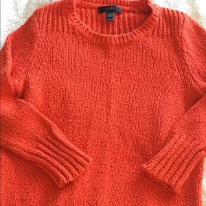 J. Crew solid orange knitted sweater 🧡 xxs